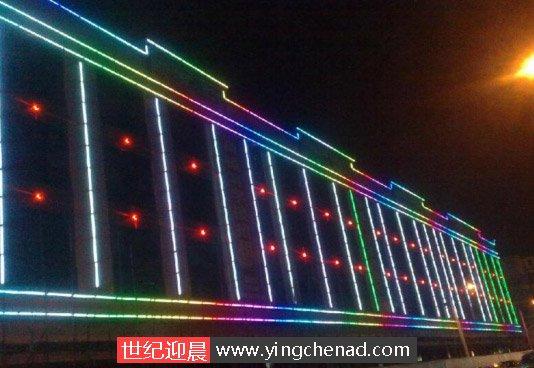 楼体亮化-楼轮廓LED数码管安装方法