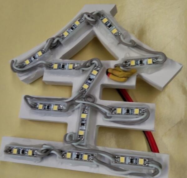 无边字装LED灯