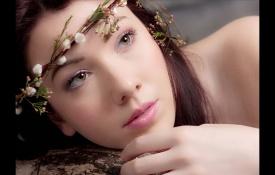 PS软件对模特人像照片磨皮美化处理