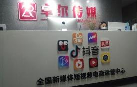 网络新媒体公司背景墙