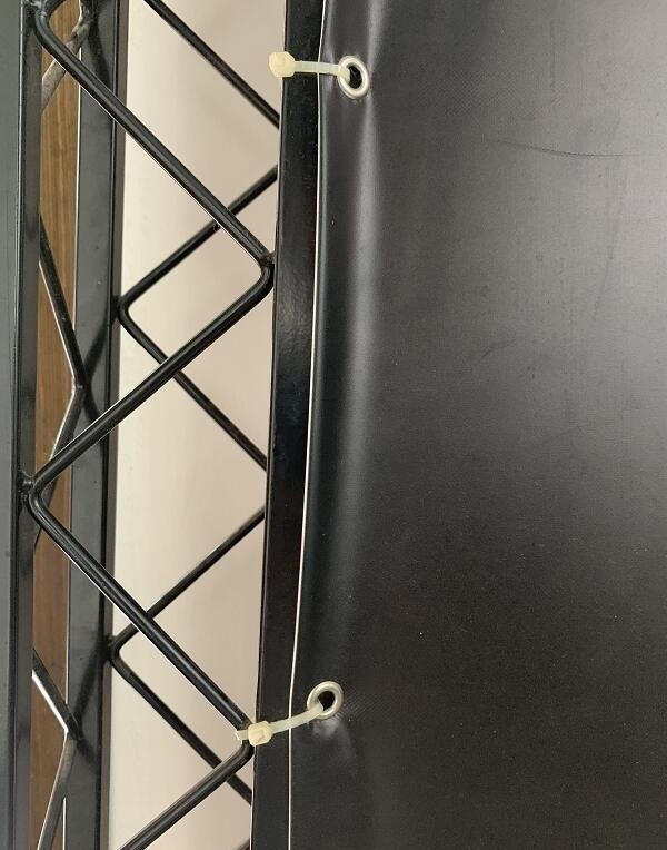桁架喷绘画面为什么要打扣?桁架安装步骤及注意事项